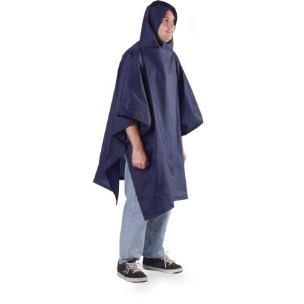 Entertainment A great travel item, the Outdoor Products Multi-Purpose poncho is easy to pull out of your bag and throw over your clothes for quick weather protection. - $30.00