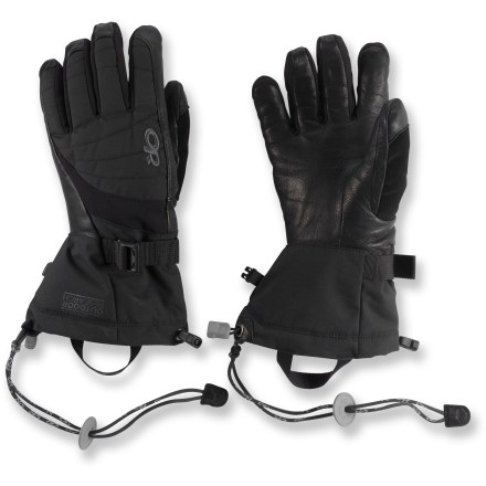 Ski The Outdoor Research Revolution gloves for women are insulated, durable and waterproof for superior protection in extreme snow storms. - $69.00