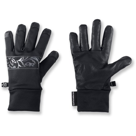 Camp and Hike The women's Outdoor Research Sensor gloves protect your hands from the cold while providing convenient access to your touch-screen cell phone and other devices. - $16.83