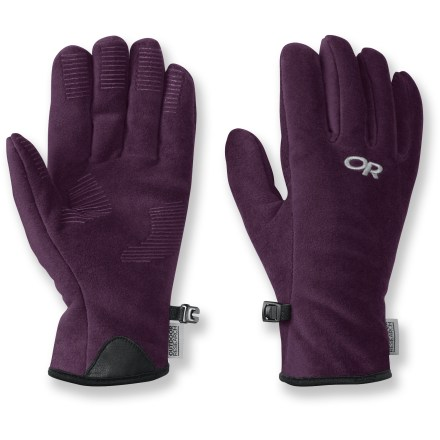 The soft Outdoor Research Fuzzy Gloves for kids wrap young hands in high-loft fleece for cozy comfort all winter long. - $16.93