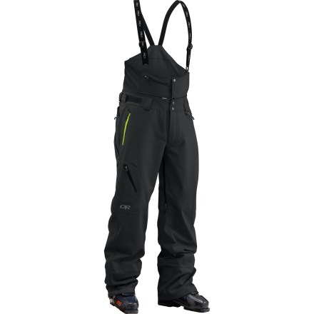 Ski Built for sidecountry skiing across a wide range of conditions, Outdoor Research Vanguard Bib shell pants feature fleece-backed Gore-Tex soft shell fabric, allowing you to reduce your layers. - $495.00