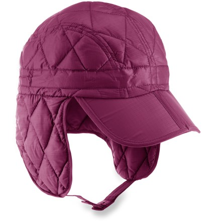 Ski The Outdoor Research Transcendent(TM) hat can be easily stuffed in your pocket for warmth when the winter weather picks up. 650-fill-power down insulation is warm, lightweight and compressible; hat has an average weight of 3 oz. Lightweight ripstop polyester shell fabric stands up to regular wear in the outdoors. Sweatband is lined with soft polyester tricot fabric for comfort next to skin. Brim keeps snowflakes and rays of sun out of your eyes; brim folds in half for easy storage of hat in a jacket pocket. External drawcord adjustment around the crown fine-tunes the fit. Chin cord with buckle closure keeps the Outdoor Research Transcendent hat securely on your head. Closeout. - $24.83