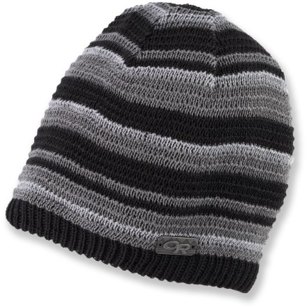 Entertainment Explore your neighborhood on a winter day or wander through the snowy forest with the warm Outdoor Research City Limits(TM) beanie. Double-layer knit provides excellent warmth in very cold conditions. Polyester/wool blend wicks moisture and dries quickly when damp. - $19.93