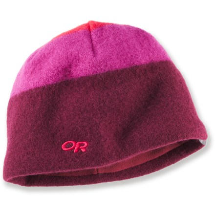 Entertainment Keep your dome warm when winter hits with the colorful Outdoor Research Gradient(TM) beanie. 100% boiled wool beanie is lined with soft polyester fleece around the earband for excellent comfort next to skin. - $17.93