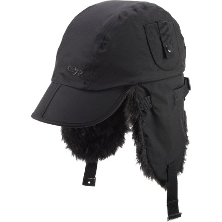 Entertainment Be prepared for foul weather on hiking trips and backcountry ski adventures with the Outdoor Research Trapper(TM) hat. - $12.83