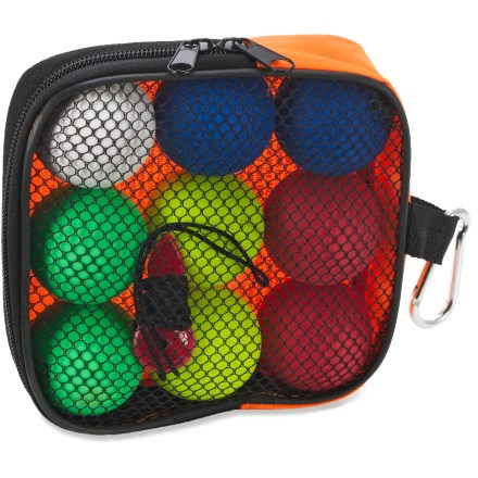 Camp and Hike The Outside Inside Backpacker Bocce set lets you bocce it up to your heart's content. This light and portable set is easy to bring along to camping trips, picnics and lawn parties. - $15.00