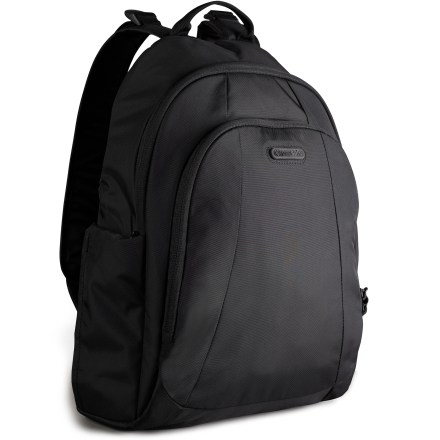 Fitness The Pacsafe Metrosafe 350 GII keeps you well-organized with 5 anti-theft features. It's large enough to fit a 13 in. laptop and is an ideal companion that maneuvers well around busy city streets. - $69.93