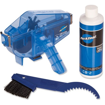 Fitness The Park Chain Gang cleaning kit is an all-in-one package that contains everything needed to quickly and easily clean your bicycle's chain, cassette cogs and chainrings. - $32.50