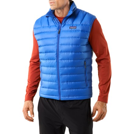 Golf Impossible to confuse with sweater vests found at golf courses and bingo parlors, this Patagonia down vest comes packed with ultra-toasty down that traps heat for use in in alpine conditions. - $83.83