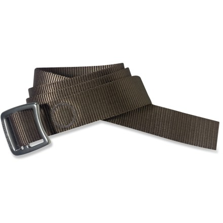 The Patagonia Tech Web belt will never hang in your closet. Cinch it up for daily use around your pants; it's so rugged and versatile, we bet you'll find an assortment of uses for it. Lightweight, forged aluminum buckle is notched and comes in handy as a bottle opener. Length is 43 in. - $29.00