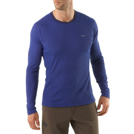 Ideally suited as a first layer for high-endurance activities in a wide range of temperatures, the Patagonia Capilene 2 long-sleeve crew top is highly breathable and dries quickly. - $20.83