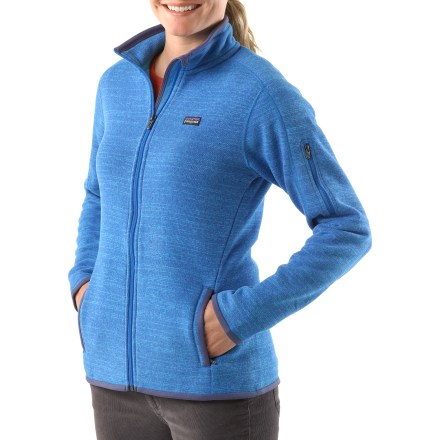 Camp and Hike With the look of wool but the easy care of fleece, this women's jacket is hard to beat for sophisticated style and cool-weather adventures. - $79.83