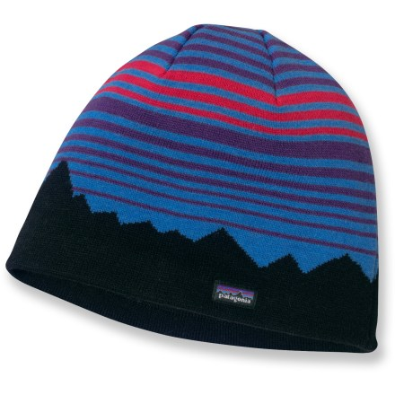 Entertainment The Patagonia Lined Beanie hat keeps your head warm while you navigate your way through the mountains. Fine-gauge knit exterior blends wool with acrylic for durability, quick-dry performance and excellent comfort. Fully lined with polyester fleece, hat wicks moistures and feels smooth next to skin. Hat can be worn under a helmet or hood. - $39.00
