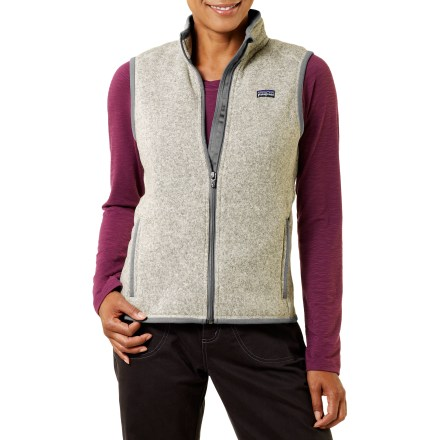 Camp and Hike Combining the aesthetic of wool with the easy care of polyester fleece, the Patagonia Better Sweater vest helps you prepare for summer days that can quickly revert to spring days. - $48.83