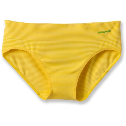 The body-hugging Patagonia Active Hipster briefs offer moisture-managing comfort during active sports and everyday wear. - $9.83