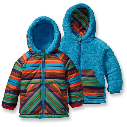 Snowboard Furry or slick? The Patagonia Baby Reversible Tribbles insulated jacket gives you both choices! It offers light, warm protection for your little one's winter adventures. - $58.83