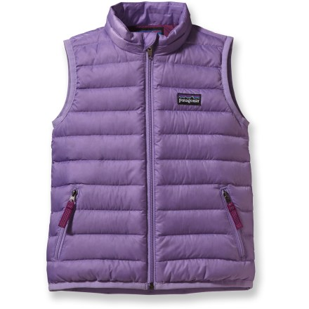 Ski The insulated Patagonia Baby Down vest buffers young bellies during serene trail walks with Dad or epic stroller wheelies with Mom. - $38.83