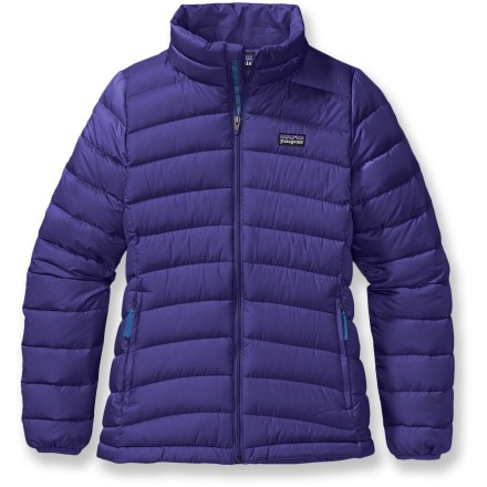 Ski The girls' Patagonia Down sweater is perfect for frosty mornings, crisp evenings and brisk mountain air. Keep your youngster warm and hibernation-free! - $119.00