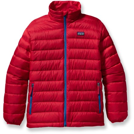 Ski The Patagonia Down sweater for boys is perfect for frosty mornings, crisp evenings and brisk mountain air. Keep your youngster warm and hibernation-free! - $119.00
