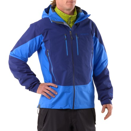 Ski Coast range ski tours, sea-to-summit ascents, Aleutian Island explorations-the Patagonia Triolet for men is a go-anywhere, do-everything waterproof, breathable shell. - $278.73