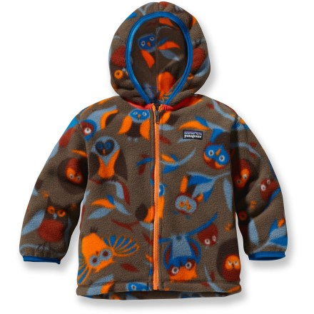 The Patagonia Synchilla cardigan sweater for infants and toddlers is made with a plush polyester fleece, offering wee boys unbeatable warmth and comfort. - $43.93