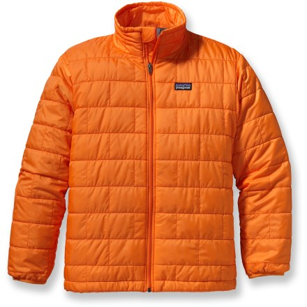 Ski A warm puffy jacket for his outdoor adventures, the boys' Nano Puff insulated with PrimaLoft(R) Gold resists wind and light moisture and stuffs into its own pocket for him to pack it easily. - $68.93