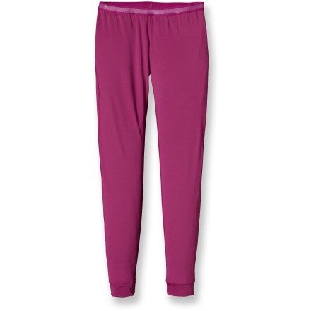 When thick base layers are too much, the Patagonia Capilene(R) 1 Silkweight Stretch long underwear bottoms help keep you comfortably dry and cool. Stretchy, quick-drying and moisture wicking, the polyester and spandex fabric offers comfort in a wide range of temperatures. Fabric provides UPF 50+ sun protection, shielding skin from harmful ultraviolet rays. Gladiodor(R) employs benign amino acids to keep funky scents at bay. Brushed elastic waistband won't irritate skin. Gusseted crotch allows freedom of movement. Offset seams enhance mobility without chafing. Patagonia Capilene(R) 1 Silkweight Stretch long underwear bottoms feature a slim fit. - $23.93