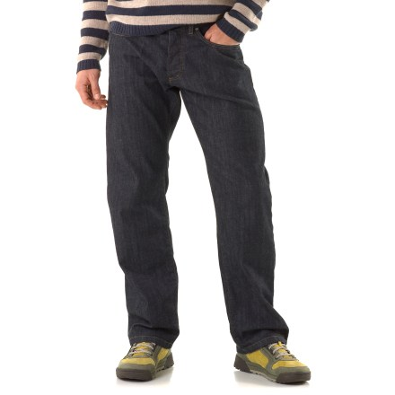 Climbing The Patagonia Regular Fit jeans are great for almost any occasion, from a casual day at work to an afternoon at the local climbing area. Rugged organic cotton stands up to your active lifestyle. Standard 5-pocket styling provides ample space for everyday essentials. The Patagonia Regular Fit jeans feature a button fly. - $59.93