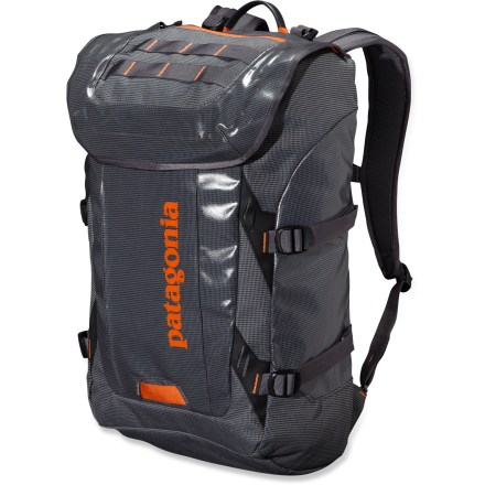Entertainment The Patagonia Black Hole daypack is a highly water-resistant, super-durable pack designed to carry your gear to the office, to the crag, or the beach. Holds your laptop, too. - $149.00