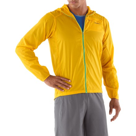 Fitness The packable Patagonia Houdini jacket for men sheds fickle weather, yet it's breathable enough to keep you comfortable as you trek through the next squall. - $48.83