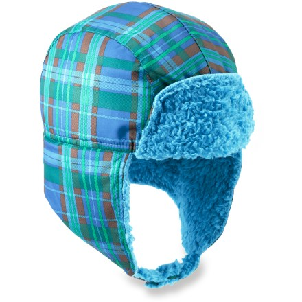 The Patagonia Baby Shelled hat helps keep bitter wind away from small heads. Its skin-pampering fleece interior provides added warmth when the temperature dips. - $7.83