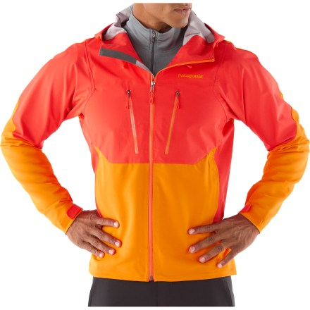 The Patagonia Mixed Guide Hoodie jacket combines soft shell mobility and breathability with key area storm protection for the best alpinist protection around. - $173.83