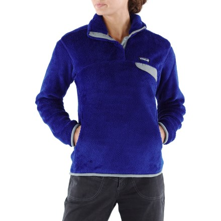 Camp and Hike This quintessential fleece pullover has feminine seam lines, a kangaroo pocket and lots of soft, deep warmth for those who want to stay outside a little longer in chilly weather. - $119.00