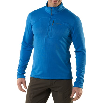 Ski On its own or as a light mid layer, the men's Patagonia R1(R) Pullover top supplies stretch, breathability, moisture-management and insulation for cool conditions. - $63.83