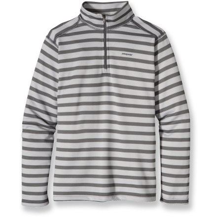 Ski Ideal for high-energy activities in a wide range of temperatures, the Patagonia Capilene 3 Midweight Zip-Neck top for kids is highly breathable and fast drying. - $32.93