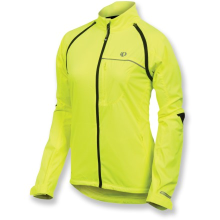 Fitness The versatile Pearl Izumi Barrier women's convertible bike jacket is a great choice for chilly morning rides that often turn into warm afternoons. - $26.83