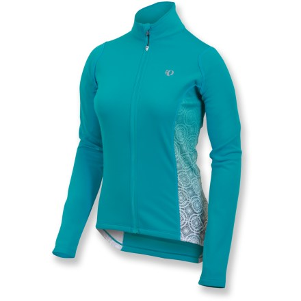 Fitness On cool-weather rides, the Pearl Izumi SELECT Thermal bike jersey keeps you warm with cozy, performance fleece that eliminates chilling condensation on your skin. SELECT Thermal fleece offers warmth, moisture management and ample stretch. Full-length zipper lets you ventilate as needed; internal draft flap with zipper guard seals in warmth. Reflective elements boost your visibility in low light. 1 zippered back pocket. Semifitted Pearl Izumi SELECT Thermal bike jersey is not too loose and not too tight. - $76.93
