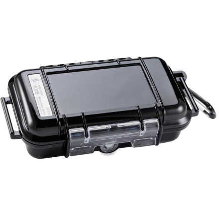 Climbing The Pelican 1015 Micro case boasts the legendary strength of the original Pelican case. It protects small electronic items and other valuables. - $22.00