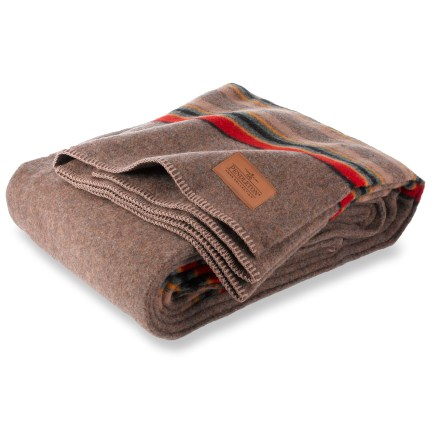 Camp and Hike The Pendleton Yakima Twin camp blanket carries on the traditions of Native Americans, trappers and pioneers. This beautiful, soft wool blanket is sure to become a collector item. Made from a warm, durable, all-natural wool and cotton blend. Dry clean only. - $60.93