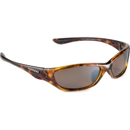 Entertainment Get the eye protection you need with these Pepper's Loco wrap-around polarized sunglasses. - $44.95