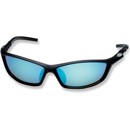 Entertainment The sleek, low-profile Pepper's Helix polarized sunglasses provide wrap-around protection from the sun! - $30.83