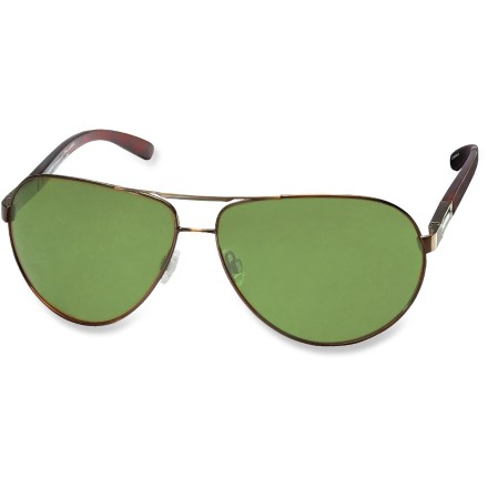 Entertainment The Pepper's Bankroll polarized sunglasses protect your eyes from the harmful rays of the sun. The aviator style will have you feeling the need for speed. - $27.83