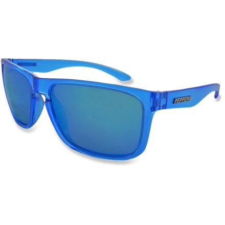 Entertainment Cut out glare and light up your look with the Pepper's Sunset Blvd Polarized sunglasses; durable frames and lenses make this pair as dependable as they are stylish. - $44.95