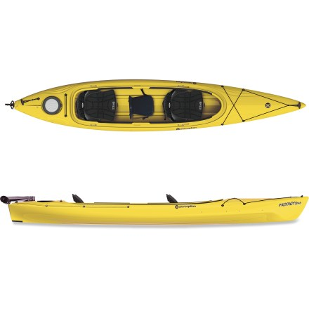 Kayak and Canoe Take the family out on the Perception Prodigy II 14.5 tandem kayak with rudder, but don't forget the after-paddle snacks! - $1,052.93