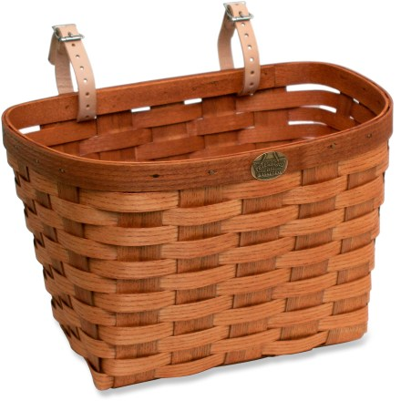 Fitness This handmade Peterboro large oak bike basket is made in the picturesque Monadnock region of New Hampshire, the source of lovely, handcrafted wood baskets for more than a century and a half. - $23.93