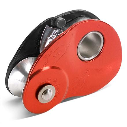 Climbing The Petzl Mini Traxion pulley has a built-in cam that acts a progress capture device, making it ideal for setting up hauling systems or moving along a tyrolean traverse. Aluminum sheave features internal, self-lubricating bushings for repeated reliable use. Spring-loaded catch can be locked in the open position for use as a simple pulley; catch is easy to manipulate with gloves on. Toothed cam works well even on dirty or icy ropes. Works with climbing ropes from 8mm to 13mm in diameter. Breaking strength as a pulley only is rated at 20kN; breaking strength as a self-jamming pulley is rated at 4kN. - $84.95