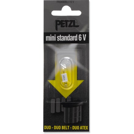 Camp and Hike Use this standard, 6 volt, replacement bulb for the Petzl Duo headlamp. - $4.75