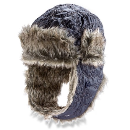 Entertainment Cruise around town this winter with the warm and stylish Pistil Cupcake hat. Fuzzy faux-fur lining keeps your head and ears toasty warm. Shiny polyester exterior with embroidered patterns adds fun style to your winter wardrobe. - $20.83