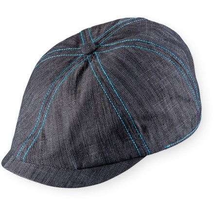 Sports Sport the short-brimmed, driver-style Pistil Kody hat on urban adventures. Includes contrast topstitching. Elastic in back accommodates most head sizes. - $15.83
