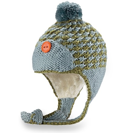 Entertainment The hand-knit Pistil Osa Earflap hat is packed with warmth, and it brings fun, colorful style to your winter wardrobe. Soft acrylic exterior is lined with warm polyester faux fur for excellent comfort on cold days. - $24.93